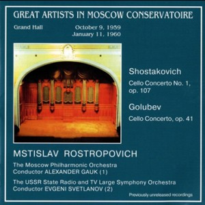 Mstislav Rostropovich - Cello Concert - Shostakovich - Golubev-Cello and Symphony Orchestra-Cello Concerto