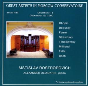 M. Rostropovich, cello  - A. Dedyukin, piano - Chopin - Debussy - Fauré - Stravinsky, etc..-Piano and Cello-Chamber Music