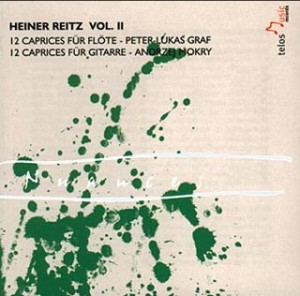 Heiner Reitz Vol. II - 12 Caprice fur Flote; 12 Caprices fur Gitarre-Guitar Music-Chamber Music
